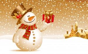 sneeuwpop kerst met sneeuw 2015