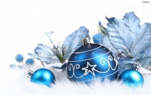 kerstwensen 2016 blauw kerstbal