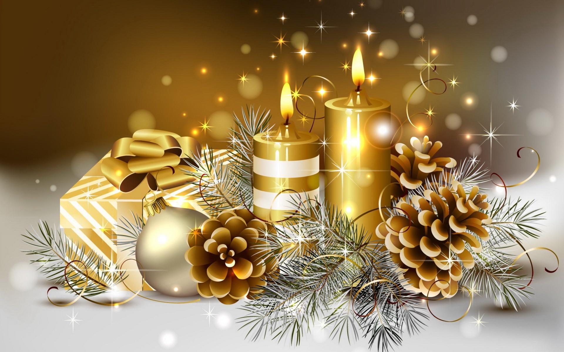 achtergrond kersttak goud