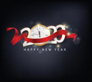 2020 nieuwjaarswensen klok