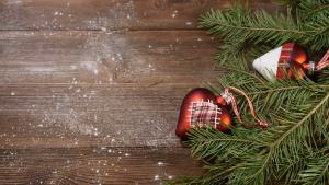 hout achtergrond kerst en hartjes